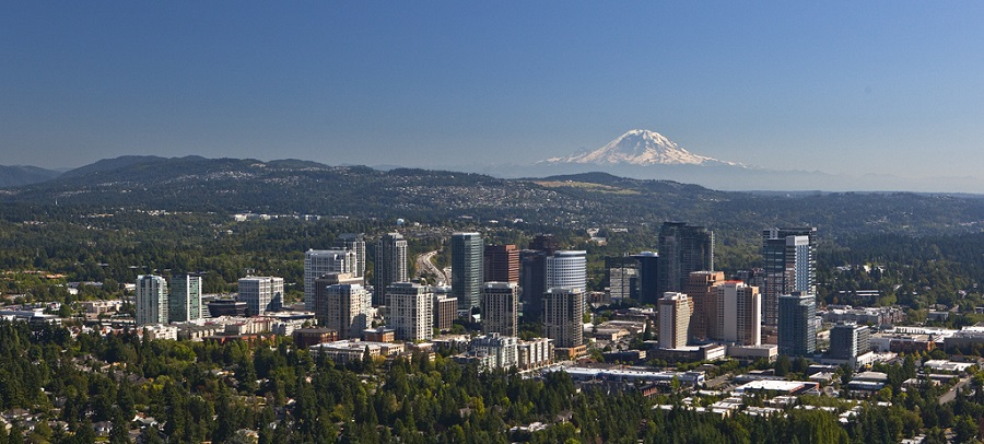 Bellevue Skyline with Mount Rainier