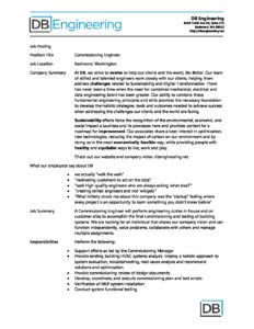 Commissioning Engineer